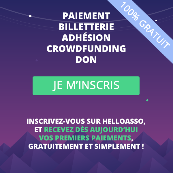 paiement en ligne - billetterie - adhesion - crowdfunding - don - association - gratuit