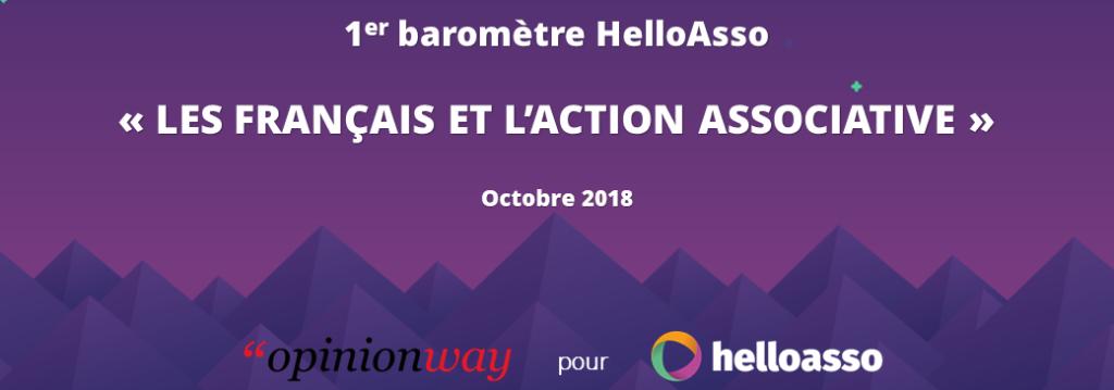 Baromètre 2018 : Les Français et l'action associative