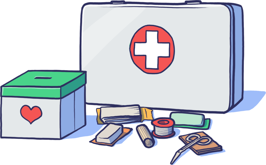 Associations Humanitaires et de Santé Illustration