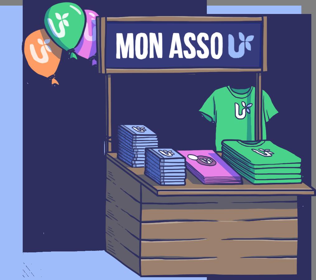 guichet association illustration